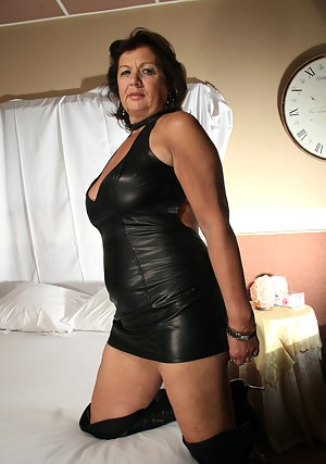 Mature black women in leather sexy