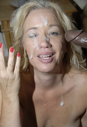 Mature milf facials