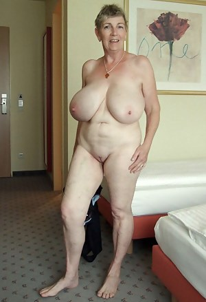 Grandmas big boobs naked for