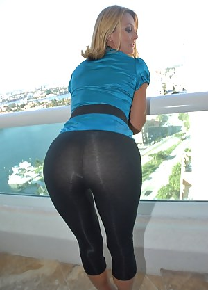 Granny in tight jeans