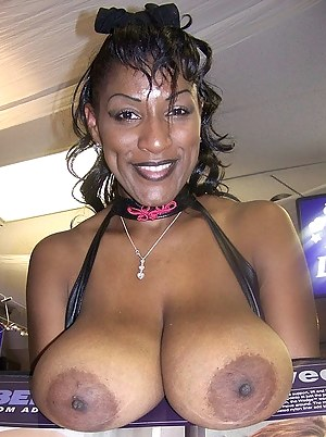 Mature huge black tits
